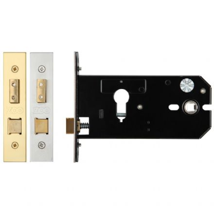 Zoo Hardware ZUKH152EPPVD Euro Profile Horizontal Sashlock Case 152mm Polished Brass